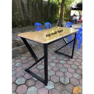 bàn chân sắt chữ K giá rẻ làm bằng gỗ chống nước, khung sơn tĩnh điện